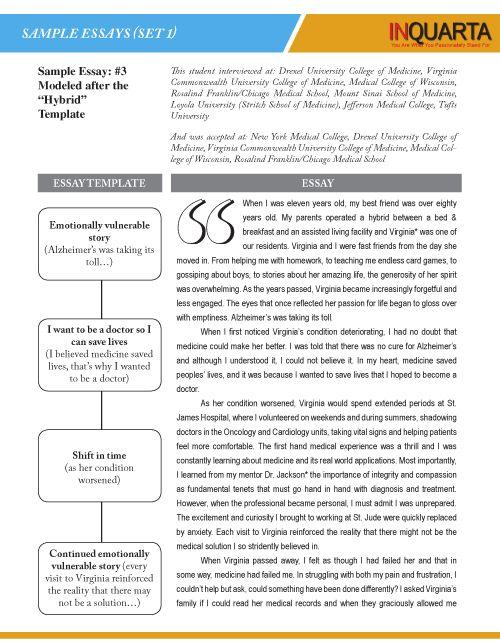 Sample Personal Statements | INQUARTA