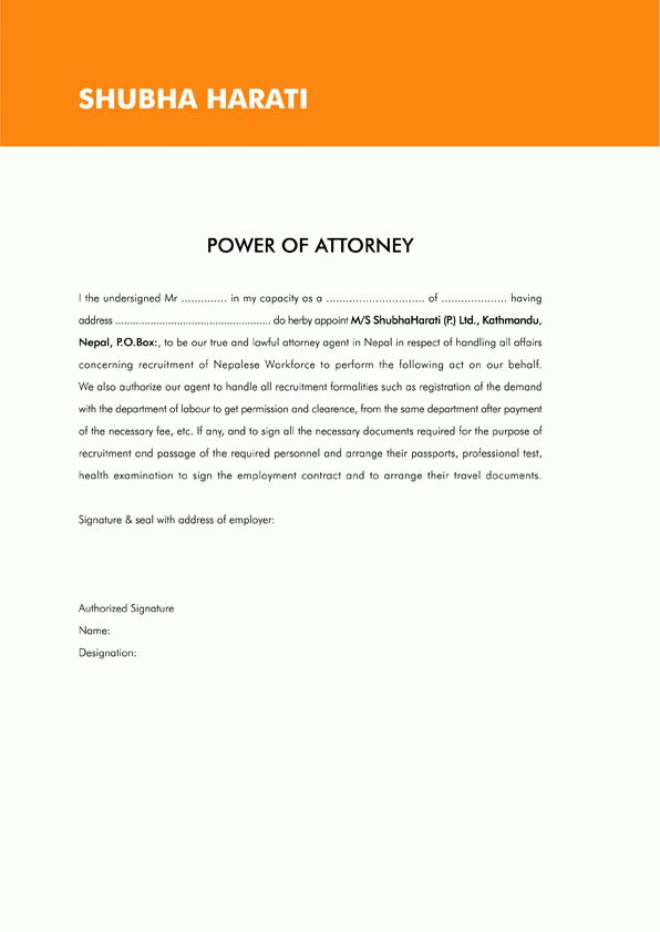 general power of attorney form india by prettytulips letter of ...
