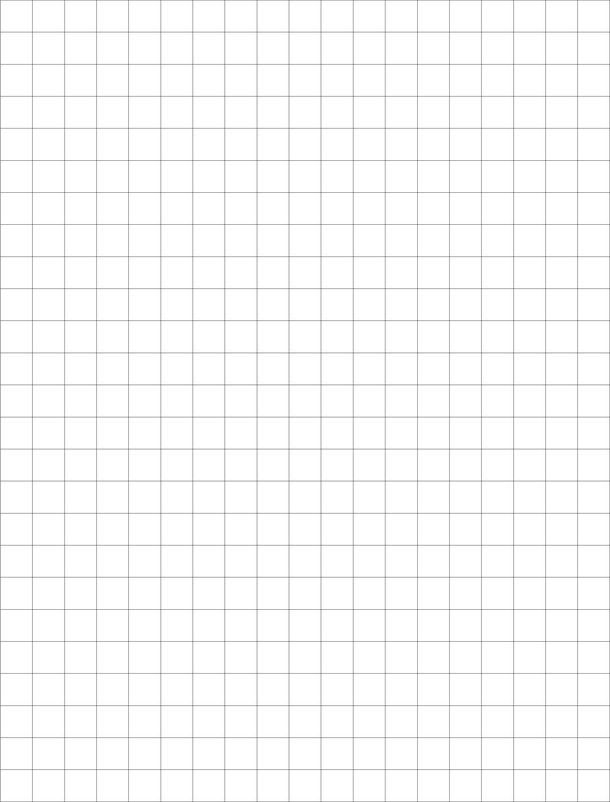 Graph Paper A4 Size Template Printable - PDF, Word, Excel Sheet ...