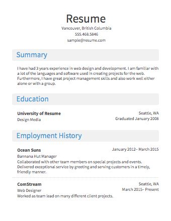 easy resume template 81 interesting easy resume examples of ...