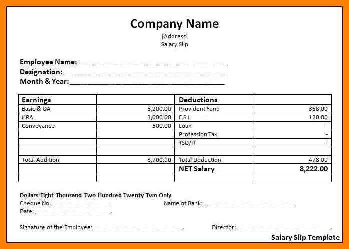 7+ salary slip format in india | handy man resume