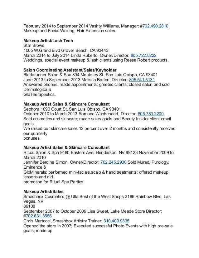 make up artists resume artist resume sample makeup artist resume