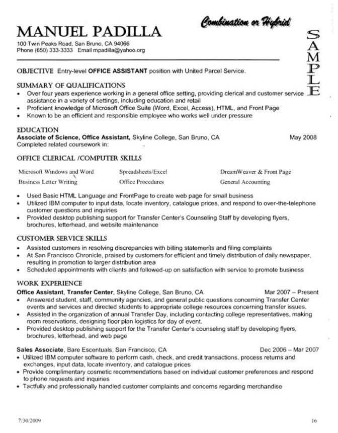 Functional Resume Template. Use-The-Reverse-Chronological-Resume ...