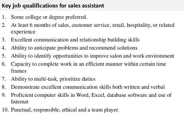 Retail Job Description. Sales Resume: Retail Sales Manager Job ...