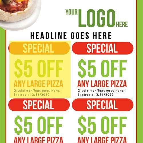 Pizza Door Hanger Template 01 - Business Cards Flyers and Banners