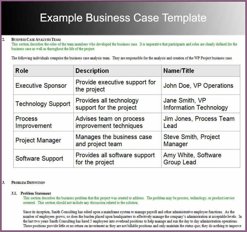 BUSINESS CASE TEMPLATE | designproposalexample.com