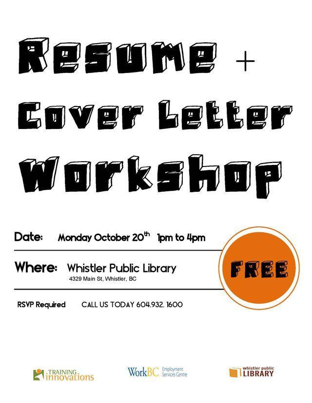 Resume & Cover Letter Writing Workshop - Whistler - Oct. 20, 2014