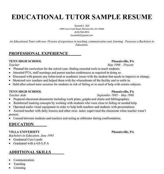 Resume Tutor | Resume CV Cover Letter
