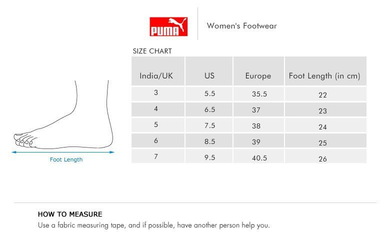 puma women's shoe sizing chart | Early Intervention