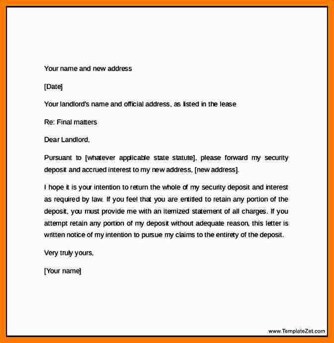 6+ notice letter to landlord | park-attendant