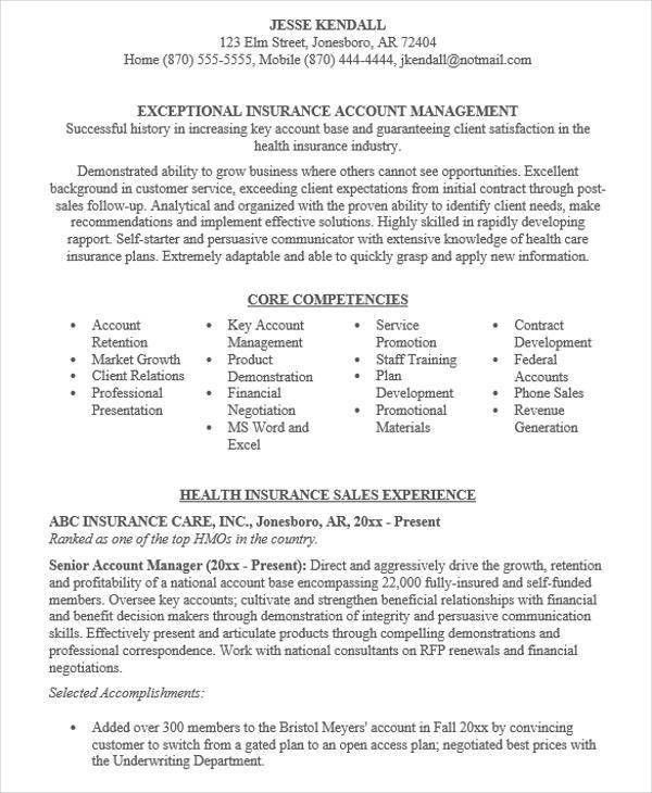 Account Manager Resume. Click Here To Download This Sales ...