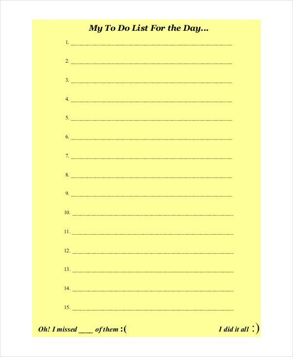 Holiday to Do List Templates - 6+ Free Word, PDF Format Download ...