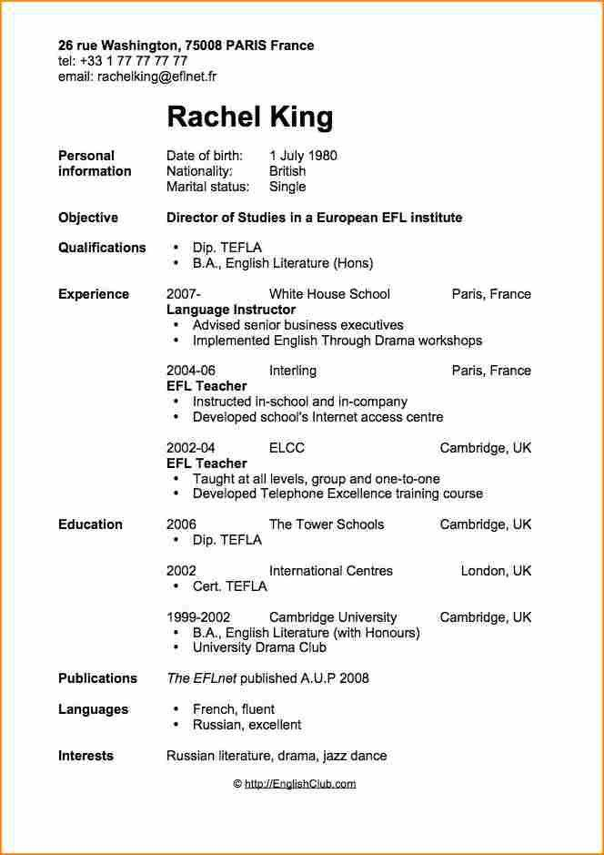 Bold Design Resume Cv Example 14 Sample Curriculum Vitae For ...