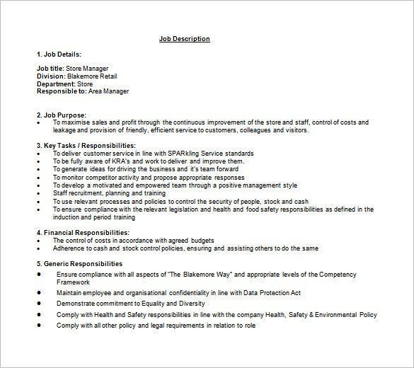 Stocker Job Description. Stocker Resume Resume Cook Head Chef ...