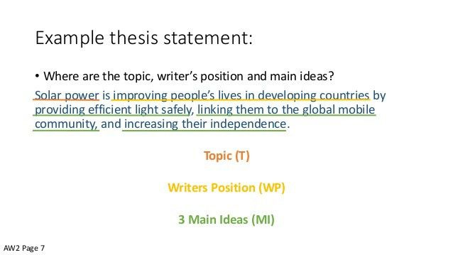 Introductory Paragraphs and Thesis Statements