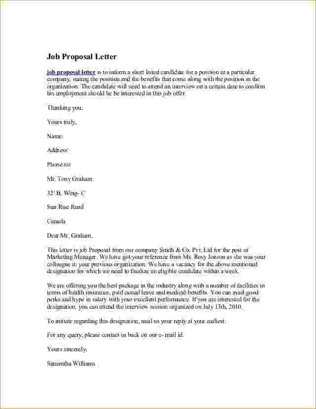 Job Proposal Sample.job Proposal Sample.employment Proposal ...