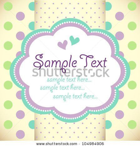 Template Frame Design Greeting Card Stock Vector 116912524 ...