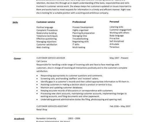 customer service representative sample resume sample resume 2017 ...