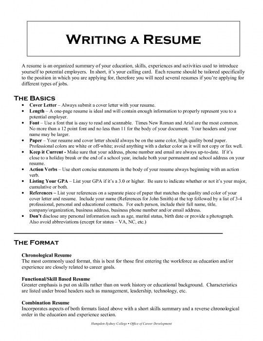 The Most Brilliant How To Organize Resume | Resume Format Web