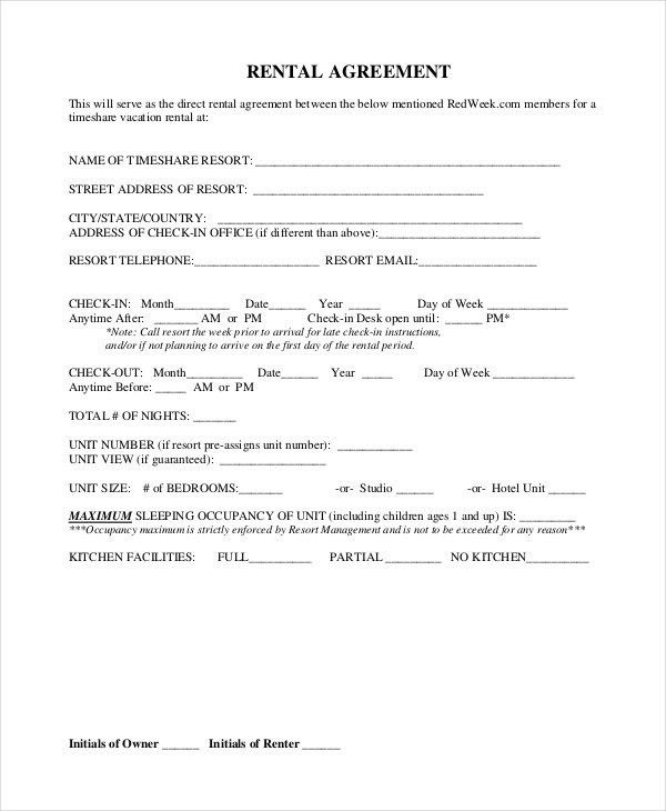 Free Blank Lease Agreement Forms Free Rental Forms To Print Free – Simple Rental Agreement Example