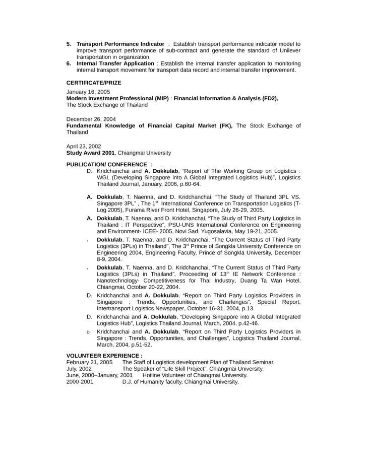 Resume Sample Logistics Analyst - Augustais