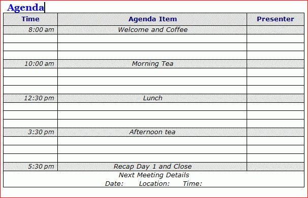 Cool Agenda Templates 2 | Professional Templates