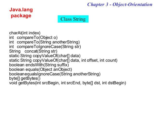 Object Oriented Programming Concepts using Java
