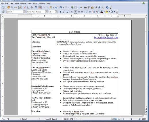 resume template openoffice template openoffice job resume march 25 ...