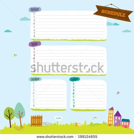School Diary Design Stock Images, Royalty-Free Images & Vectors ...