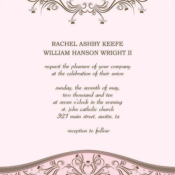 Wedding Invitation Templates Word | THERUNTIME.COM