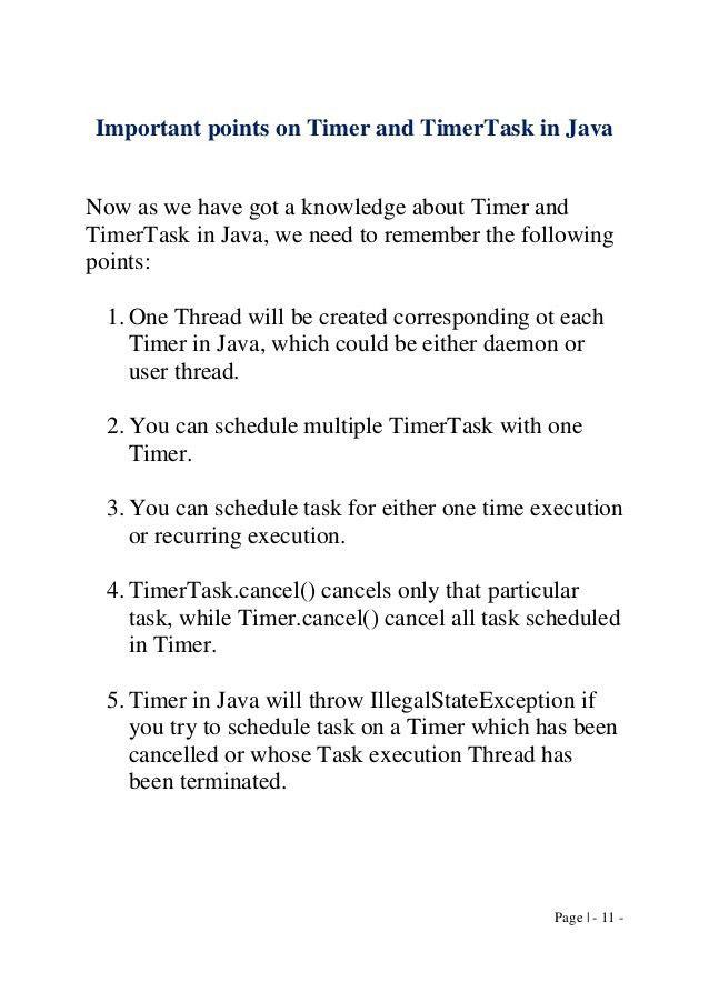 A Project Run@Timer, J2SE,
