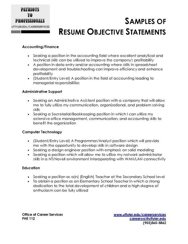 objectives. neat. consider using one of the below. good resume ...