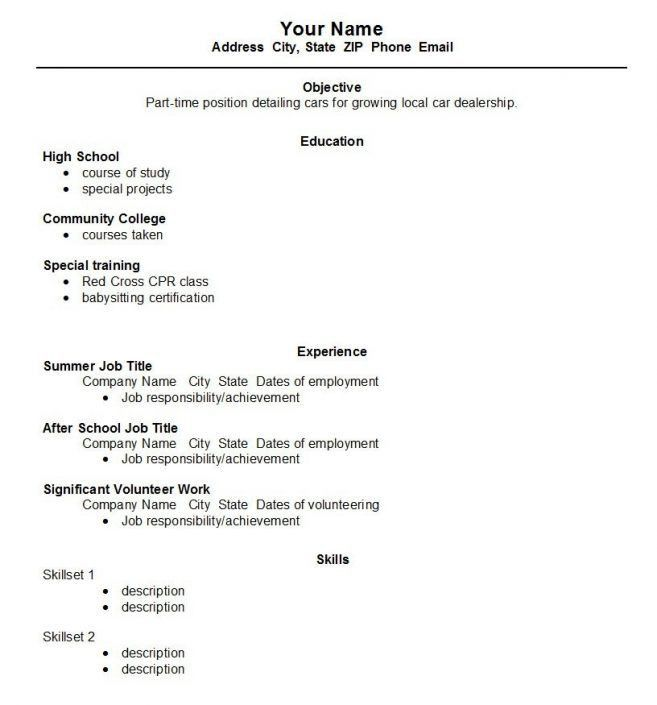 7 High School Student Resume First Job Resume high school student ...