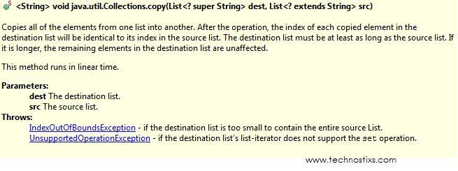 Copy Elements from Java ArrayList to Java Vector Example - TECHNOSTIXS