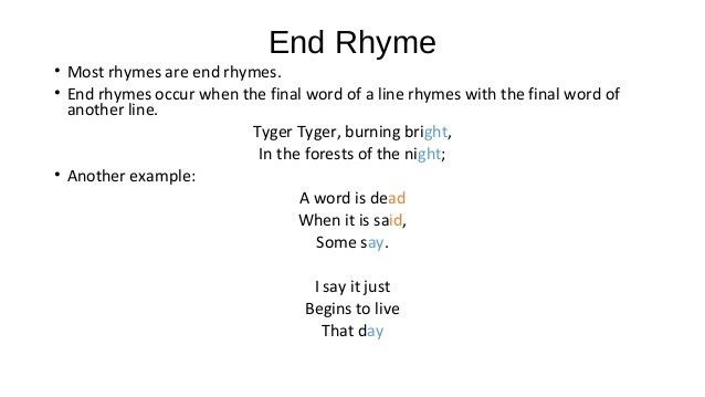 poetry-rhyme and stanza