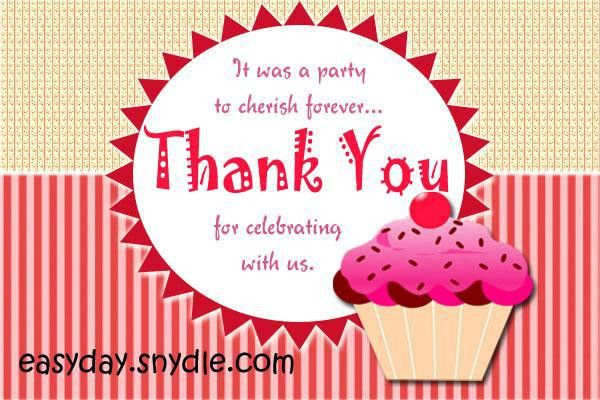Thank You Card Messages for Birthday, Wedding and Gifts - Easyday