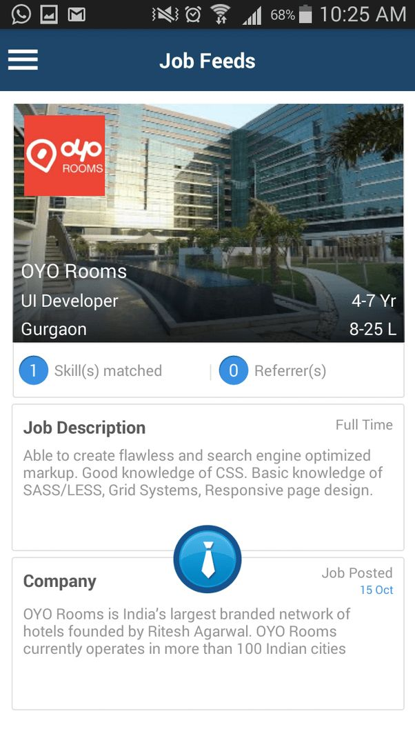 1 answer: Is there any job opening for UI developer in gurgaon ...