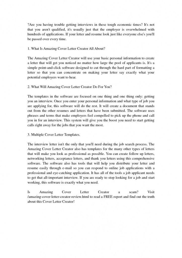 Cool Inspiration Amazing Cover Letter 15 Creator Download Resume ...