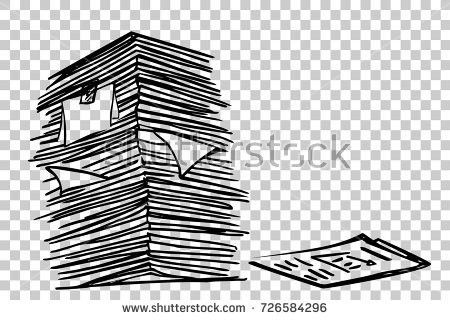 Stack Paper Transparent Effect Background Stock Vector 330713855 ...