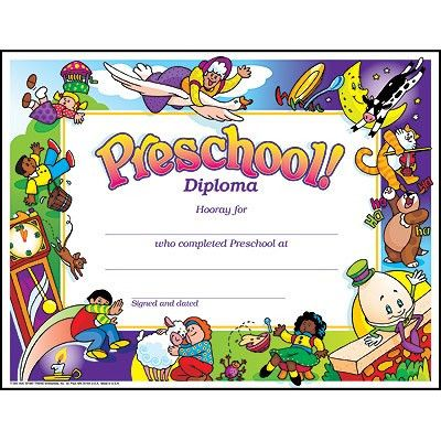 preschool graduation certificate template