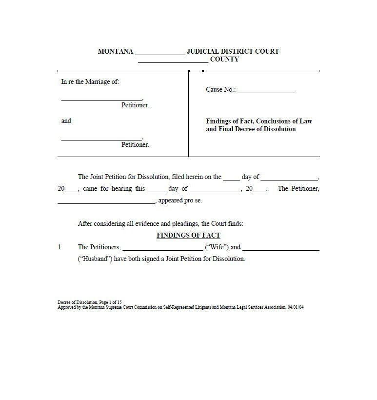40 Free Divorce Papers (Printable) - Template Lab