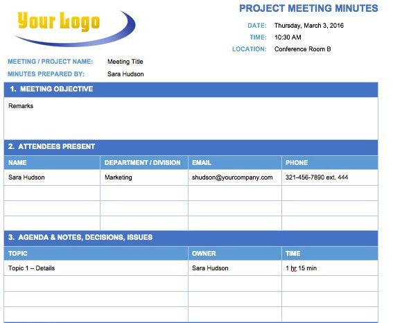 Meeting Notes Format Meeting Minutes Templates For Word  Meeting