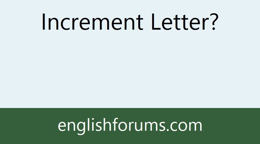 Increment Letter?