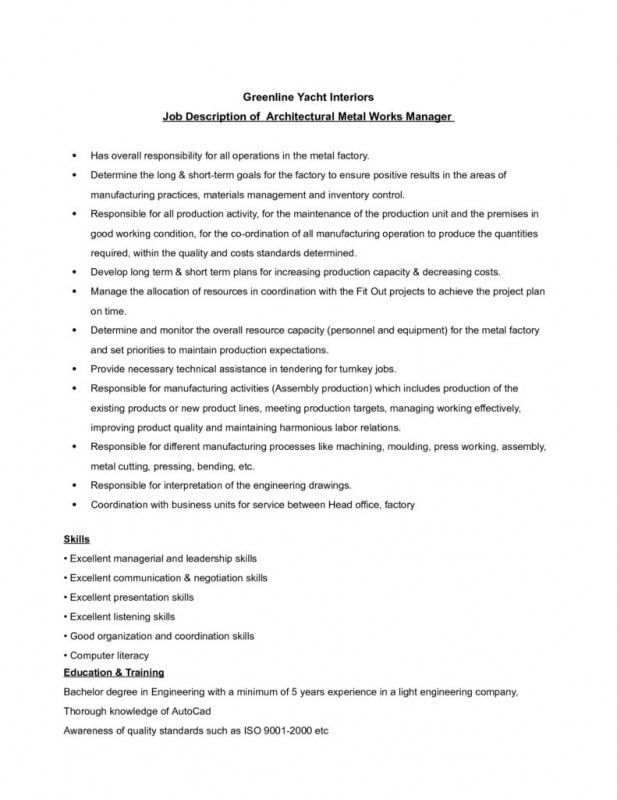 Resume For Assembly Line Worker | Samples Of Resumes