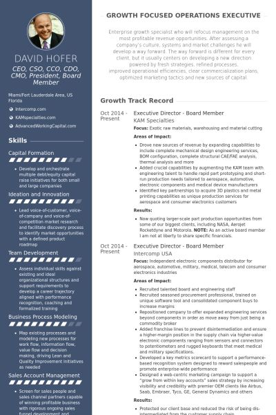 Board Member Resume samples - VisualCV resume samples database