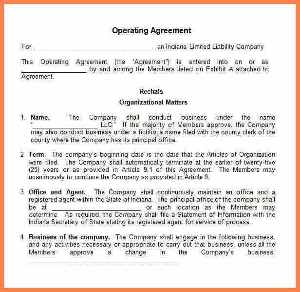 10+ small business operating agreement template | Purchase ...