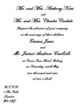 Wedding Invitation Wording Etiquette - vertabox.Com