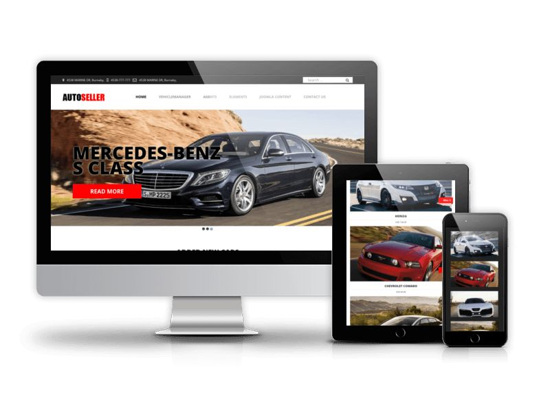Vehicle Park, Car Rental Website Template