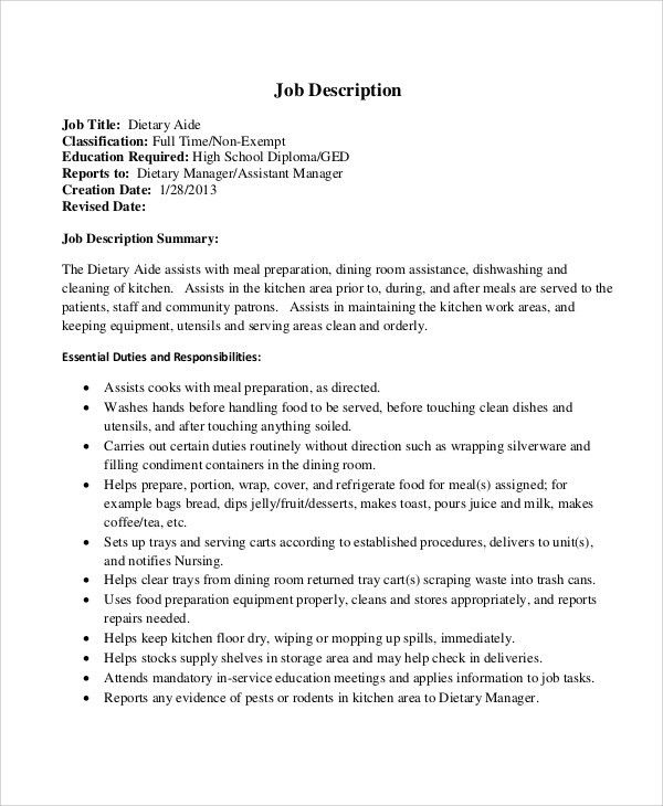 company with dietary aide jobs living branches. dietary aide job ...