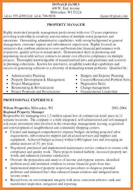 experienced assistant property manager resume sample for ...